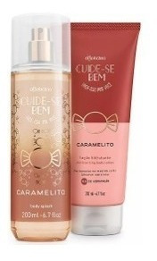 Combo Perfumada Caramelito Hidratante Corporal + Body Splash