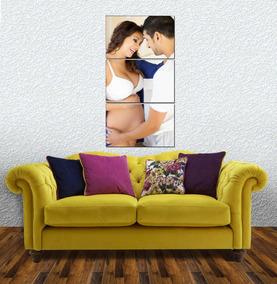 Quadro Foto Mosaico Personalizada Mamãe Gestante Bebe