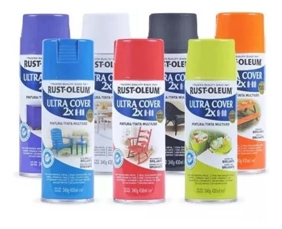 Pintura Aerosol Ultra Cover Colores 340 Ml Rust Oleum Rex