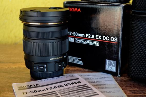 Lente Sigma 17-50mm F/2.8 Ex Dc Os Para Nikon