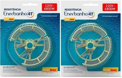 2 Resistência Enerbras 220v Para Chuveiro Enerbanho 4t
