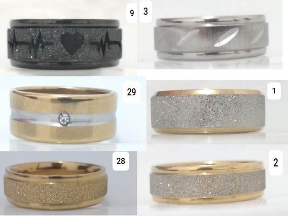 Anel Aliança Aço Titanio Qualidade 5 Caixa Com 36 Anéis=180
