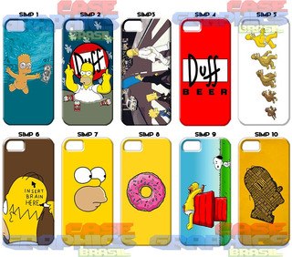 Capinha Marge Simpsons Bart Homer Lisa iPhone 4 5 6 7 8 Plus