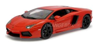 Lamborghini Aventador 2012 Lp700-4 1:18 Burago 11033-laranja