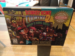 Donkey Kong Country 2 Snes Con Caja Y Manual