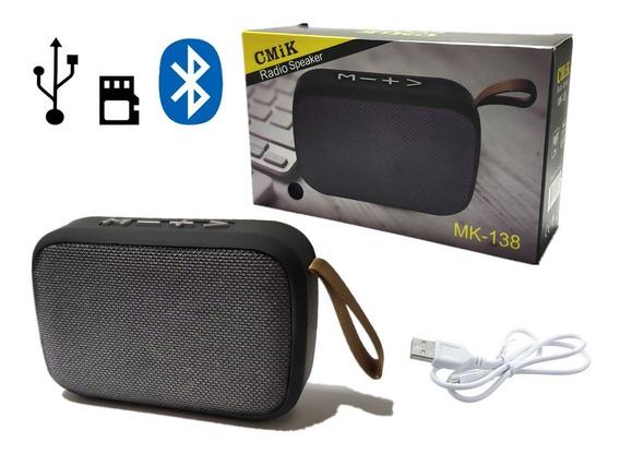 2 Caixa De Som Portátil Bluetooth Mp3 Fm Sd Usb Recarregavel