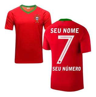 Camisa Seleção Portugal Personalizada Camiseta Futebol