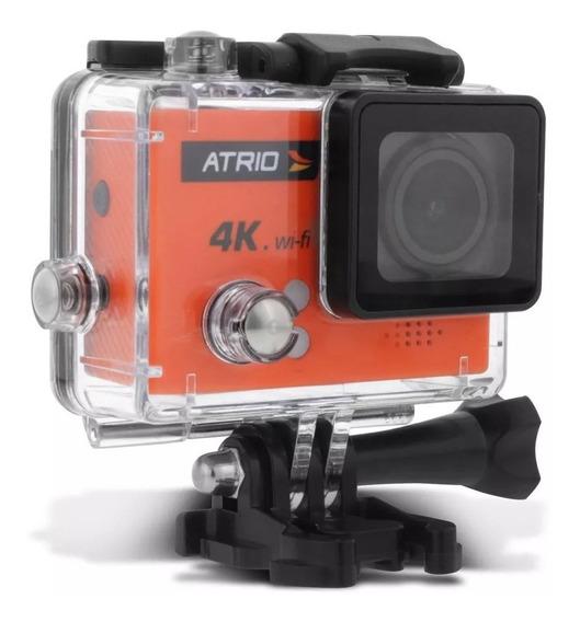Câmera De Ação Atrio Fullsport Dc185 4k Tela Lcd Usb Sd Wifi