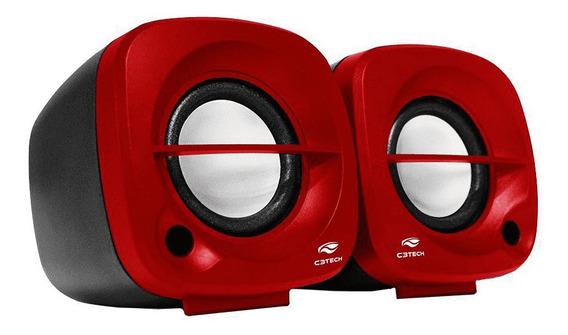 Caixa De Som C3tech Sp-303rd 2.0 (vermelho)