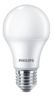 Pack 10 Lampara Philips Led 9w 10w = 60w E27 Calida Fria
