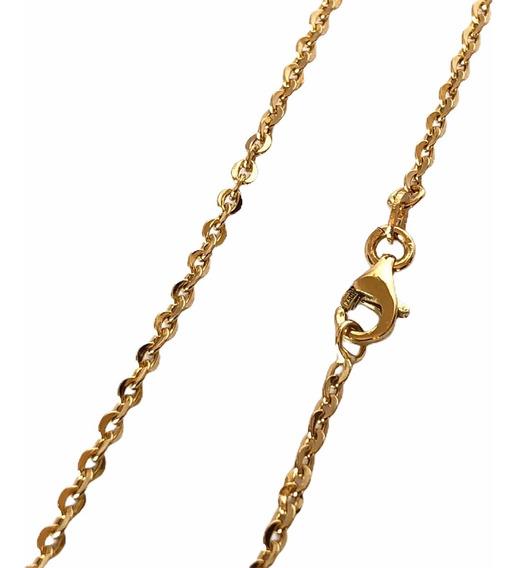 Corrente Cordão Ouro 18k Masculina Feminina 70 Cm 2mm 3,1gr