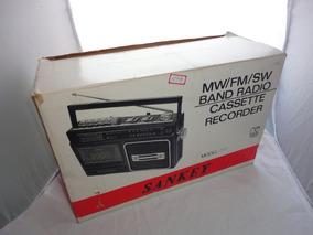 Radio Am Fm Ondas Curtas Sankey Cassete Na Caixa Mod 777