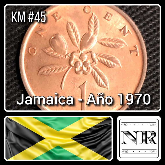 Jamaica - 1 Cent - Año 1970 - Km # 45 - Flores