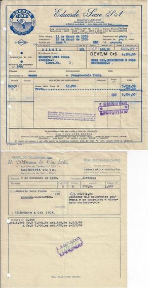 10 Documentos Timbrados Empresas Rio Grande Do Sul Anos 50