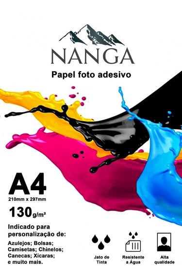 Papel Fotográfico A4 Brilho Adesivo 130g 500fls Prova D