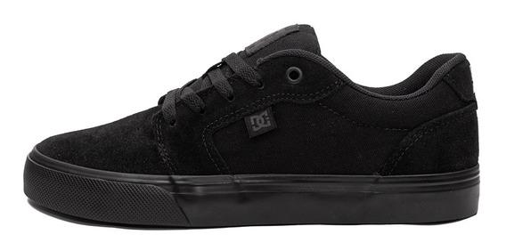 Tênis Dc Shoes Anvil La Preto / Preto Frete Grátis