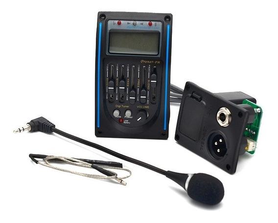 Pré Amp Captador Equalizador C/ Afinador Microfone P/ Violão