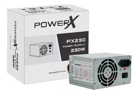 Fonte Power X 230w Real 20 + 4 Sata Com Cabo Nova