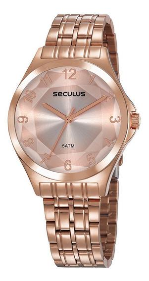 Relógio Seculus Feminino 23602lpsvrs4 Rosê