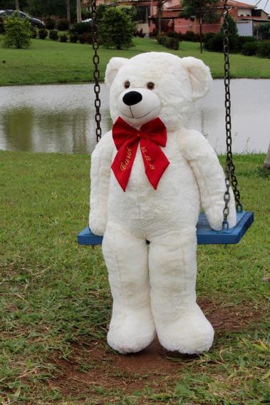 Urso Gigante - Laço Personalizado Bordado Nomes Datas 1,10m