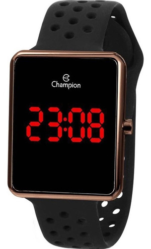 Relógio Champion Masculino Led Digital Preto Marrom Ch40081r