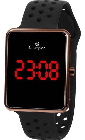 Relógio Champion Masculino Digital Preto Marrom Ch40081r