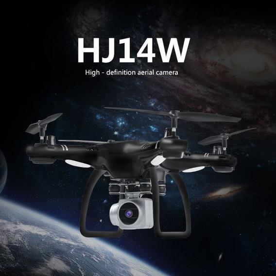 Drone Hj14w Com Controle, Cor Branca Ou Preta,