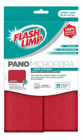 Pano Microfibra Para Cozinha Flash Limp Flp6704 Casa Limpa