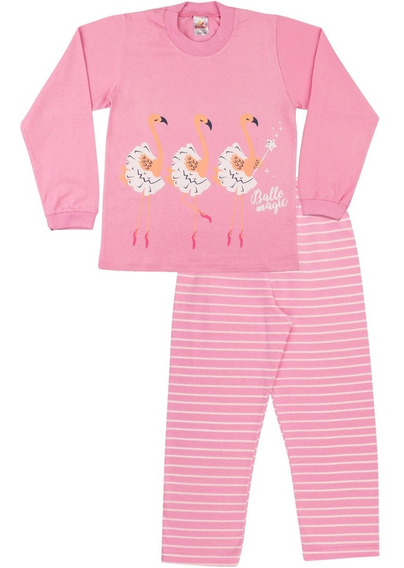 Pijama Infantil Menina Longo Inverno Calça E Camiseta