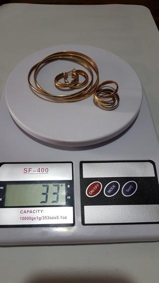 Conjunto Ouro 3 Cores Modelo Cartier 18 K