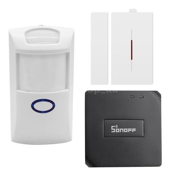 Kit Sensor Wifi Alarme Sonoff Automação Anti Roubo Furto Pro