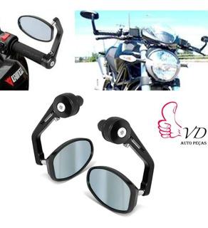Retrovisor Motos Guidao Cafe Racer Chopper Custom Bobber Pto