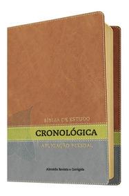 Bíblia De Estudo Cronológica Aplicação Pessoal Capa Luxo