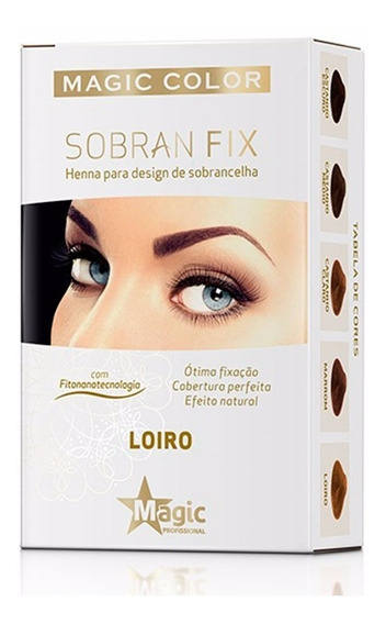 Henna P/ Sobrancelhas Sobran Fix Magic Color Loiro