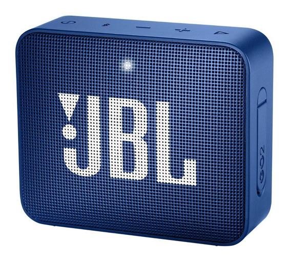 Caixa De Som Portátil Go 2 Azul Jbl Com Bluetooth - À Prova