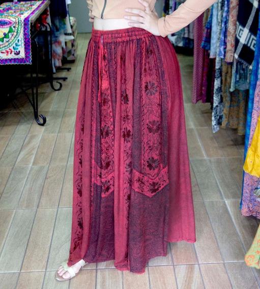 Saia Longa Indiana Bordado Batik Premium 5312