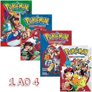 Pokémon Ruby & Sapphire 1 Ao 4 Mangá Panini! Novo E Lacrado!