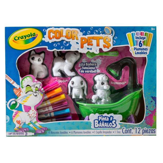 Color Pets Diversión En La Bañera Crayola
