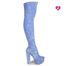 Bota Bucanera Jeans Elastizada Mod Dyabla De Bayres One