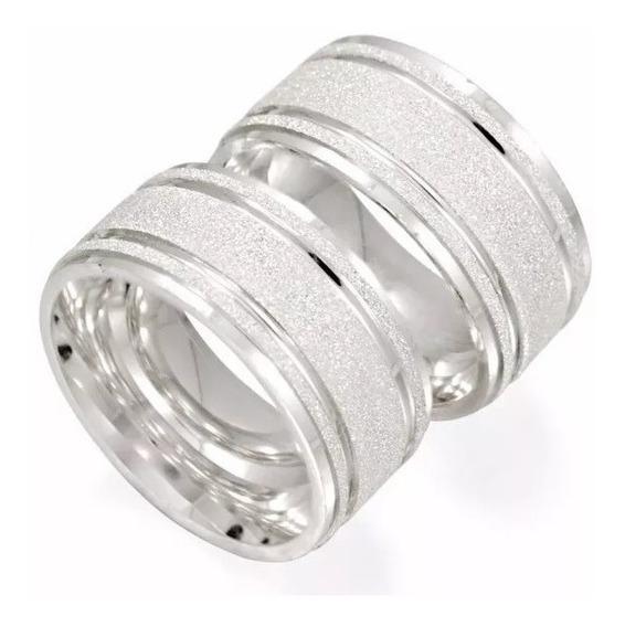 Par Alianças 8mm Prata 950 Diamantadas Modelo Laura