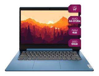 Notebook Lenovo Ideapad Slim 14p Amd A4 9120e 4gb 64gb Win10