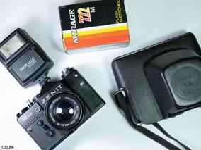 Câmera Fotográfica Analógica Zenit 12xp ( Tudo Funcionando )
