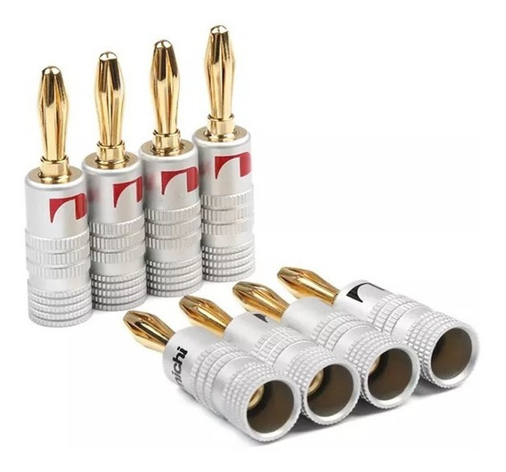24 Plugs Nakamichi Banana -receiver E Caixas Liga Premium
