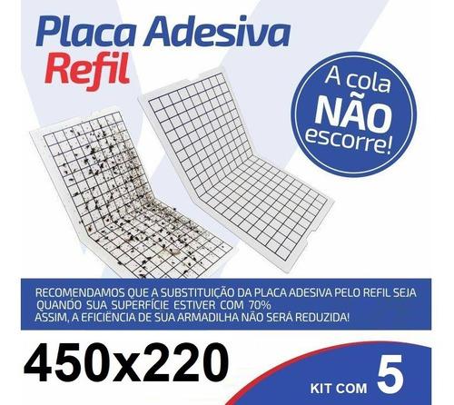 5 Pçs Refil 450x220 Mm Armadilha Pega Mata Mosca Mosquito