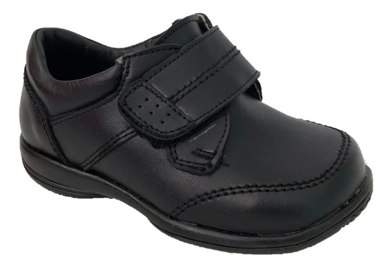 Zapato Escolar Yondeer 8422 Piel Negro Moda Niño Infantil