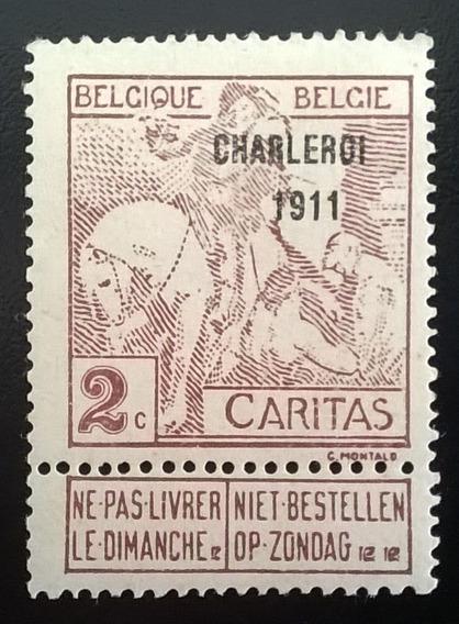 Bélgica Arte, Sello Yv. 102 Charleroi 1911 Nuevo L11973