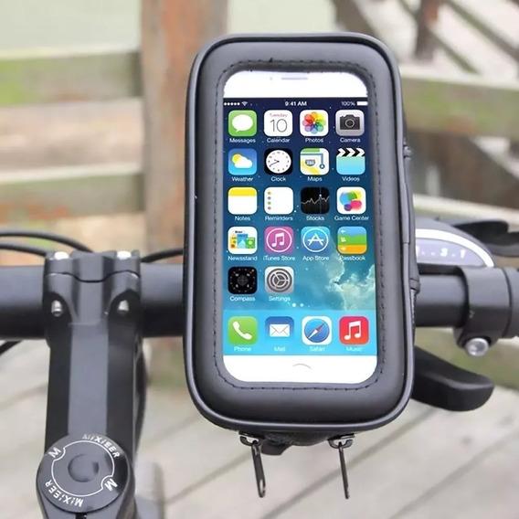 Suporte Prova D Agua Celular Bicicleta Bike Moto Gps 6 Pol