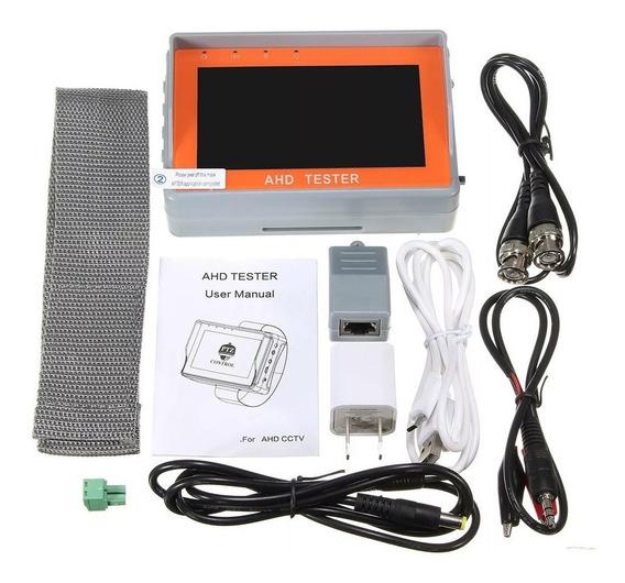 Monitor 4.3 Tester Testador De Câmera Ahd E Analógica - Cftv