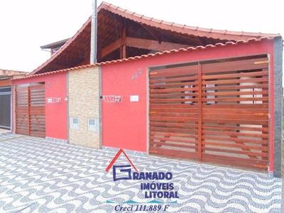 Casa Nova Em Mongaguá, Aceita Financiamento Caixa