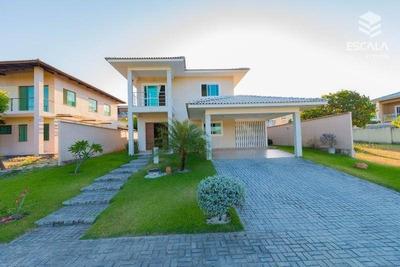 Casa Com 4 Quartos À Venda, 300 M²nova, 4 Vagas - Condomínio Alphaville Fortaleza Residencial - Eusébio/ce - Ca0178